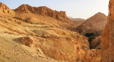 Desert landscape in North Africa
