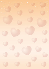 Romantic design. Celebratory background with hearts for Valentine's Day. Vector illustration