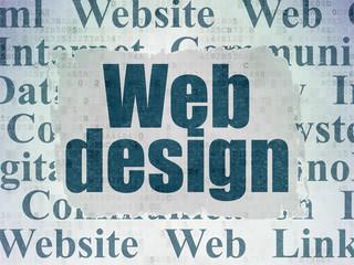 Web design concept: Web Design on Digital Data Paper background