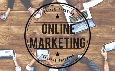 Wall Mural - Online Marketing Advertising Branding Commerce Concept