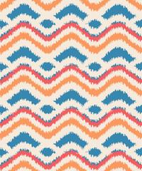 seamless ikat zigzag pattern