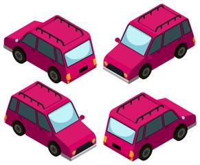 3D design for pink cars.