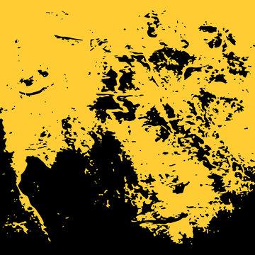 yellow paint. golden background. grunge texture. vector illustration