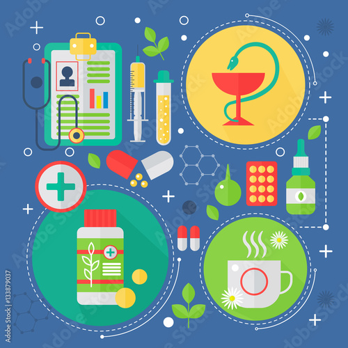 """""""Modern Medicine and healthcare services flat concept ..."""