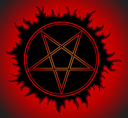 Black Pentagram icon.