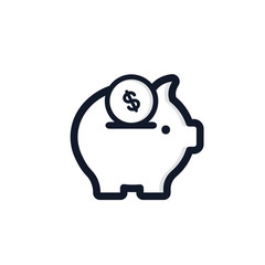 Piggy Isolated Icon Vector Illustration.Flat Style