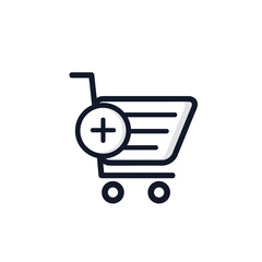 Shopping Cart Isolated Icon Vector Illustration.Flat Style