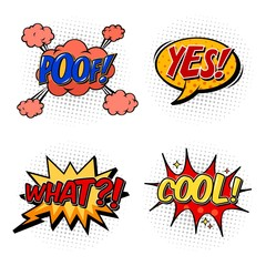 Set of comic bubble speech, onomatopoeia