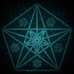 Mysterious Geometry. Abstract Vector Illustration. Abstract Geometric Illustration.