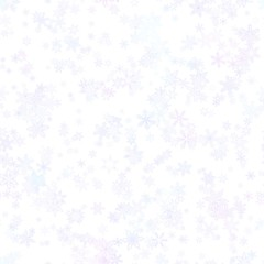 Abstract light blue snowflake pattern on white background. 