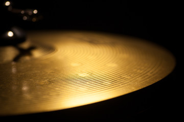 Drum sticks and cymbal detail