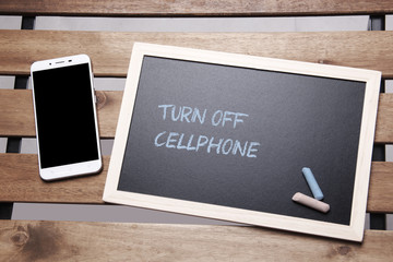 Chalkboard Concept -Turn Off Cellphone
