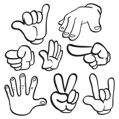 Cartoon Hand Gestures