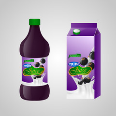 Blank milk or juice pack. Vector illuctration