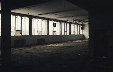 Old Obsolete Factory Interior