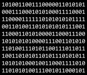 binary code vector symbol icon design.