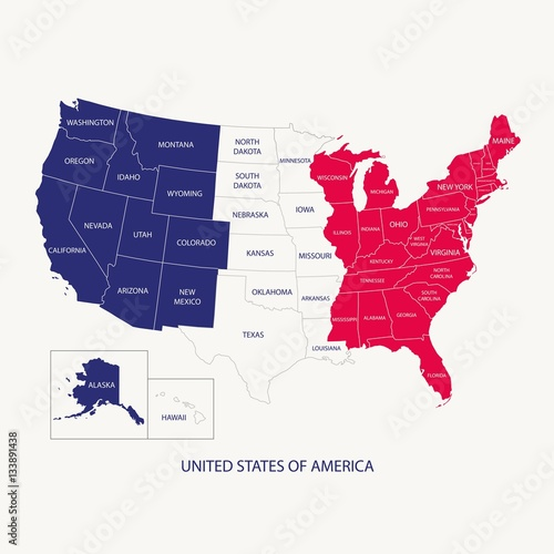 USA MAP WITH NAME OF COUNTRIESUNITED STATES OF AMERICA MAP US - Us map flat
