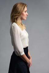 Profile portrait of a businesswoman