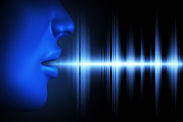 Sound wave of voice