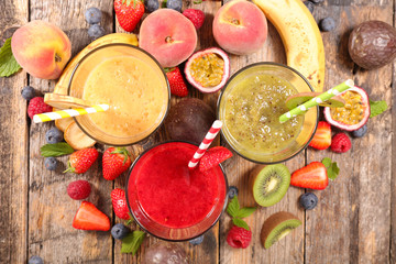 fruit smoothie Wall mural