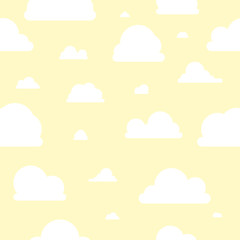 Wolken - Muster - gelb weiß - negativ