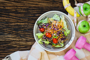 Healthy eating, dieting, slimming and weight loss concept - Top