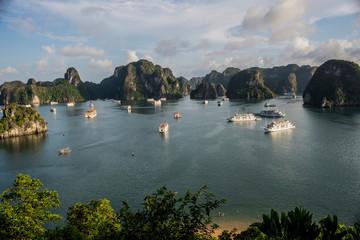 View of Ha Long Bay from Sim Soi Island, Vietnam