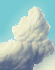 Cartoon sky / clouds / digital painting / illustration