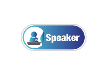Speaker, session, microphone, podium, sign, button