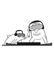 Smoking kiffen kiffer duo team 2 friends dj party music hang up disk headphones glasses celebrate cool water dolphin swim cute cute