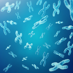XY-chromosomes as a concept for human biology medical symbol gene therapy or microbiology genetics research. 3d rendering