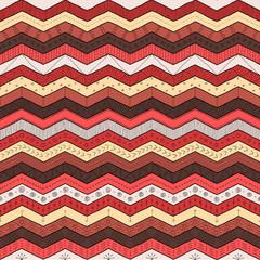Geometric multicolor chevron or zig zag, seamless tribal pattern