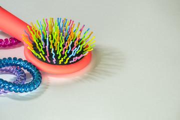 Colorful hairbrush