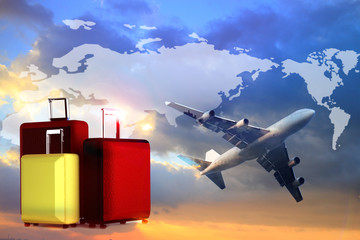worldwide travel or transport global business  or import-export commercial logistic ,shipping business industry