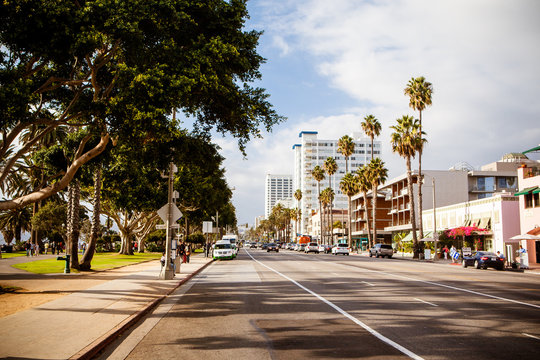 Ocean Ave in Santa Monica