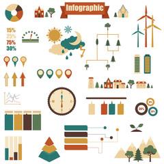 Big set of vector infographics elements