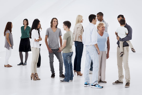 Groups of People Talking