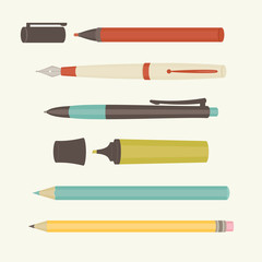 Collection of writing tools