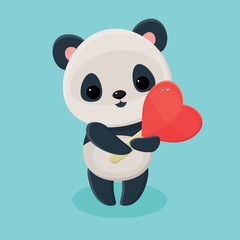 Panda holding lollipop