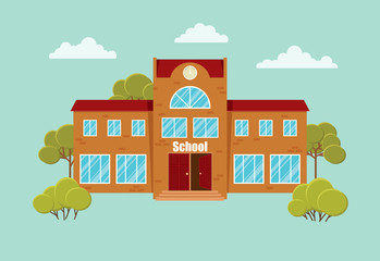 School building, vector