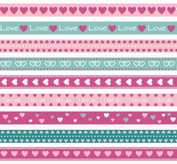 Borders with hearts