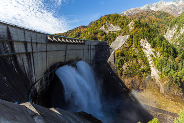 Kurobe Dam and rainbow