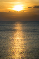 Sunset at the ocean (copy space)