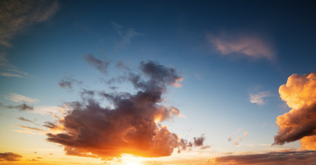 orange clouds at sunset