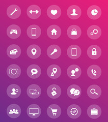 30 icons for web design and apps
