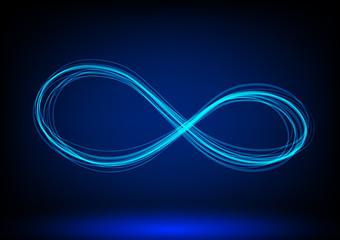line infinity symbol. Vector illustration.