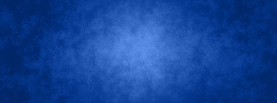blue background banner with metal texture design and soft center lighting