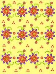 Daisy Garden on Soft Yellow
