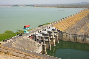 Water dam in Tay Nguyen, central highlands of vietnam