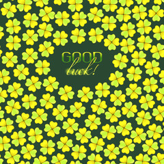 vector card with good luck wish